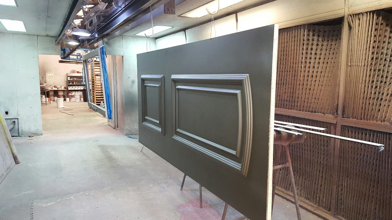 Panel de pvc lacado bronce 2 caras